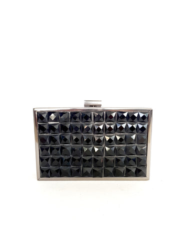 ALICIA BLACK CLUTCH
