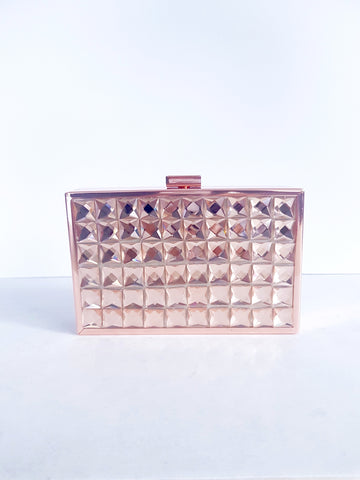 ALICIA ROSE GOLD CLUTCH