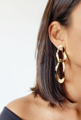 EVA GOLD GEOMETRIC EARRINGS