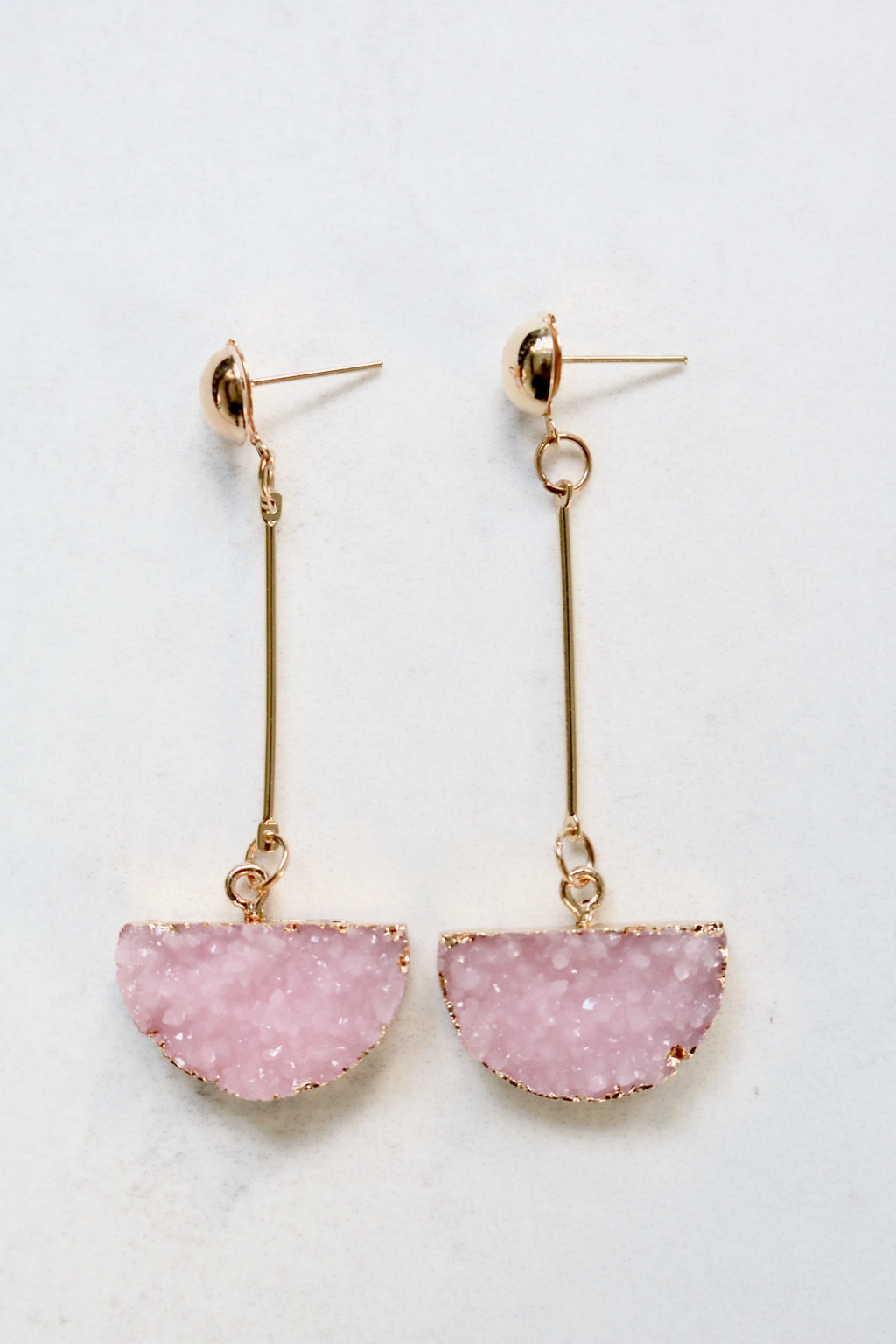 AURORA ROSE QUARTZ EARRINGS