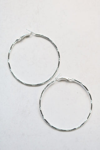 CHLOE SILVER HOOP EARRINGS