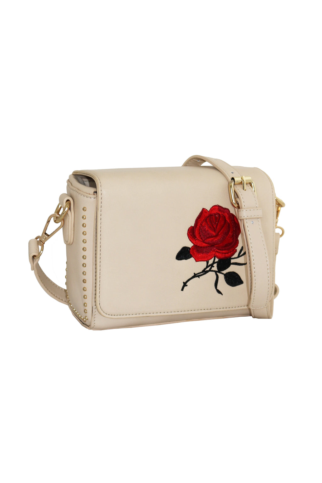 ROSE EMBROIDERED BAG