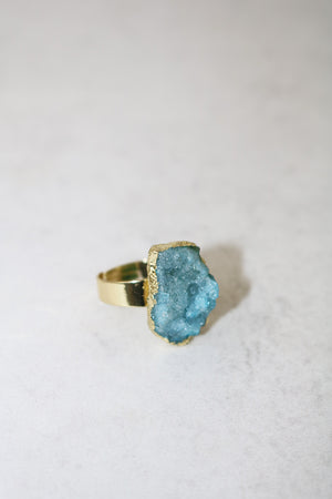 AURORA BLUE QUARTZ RING