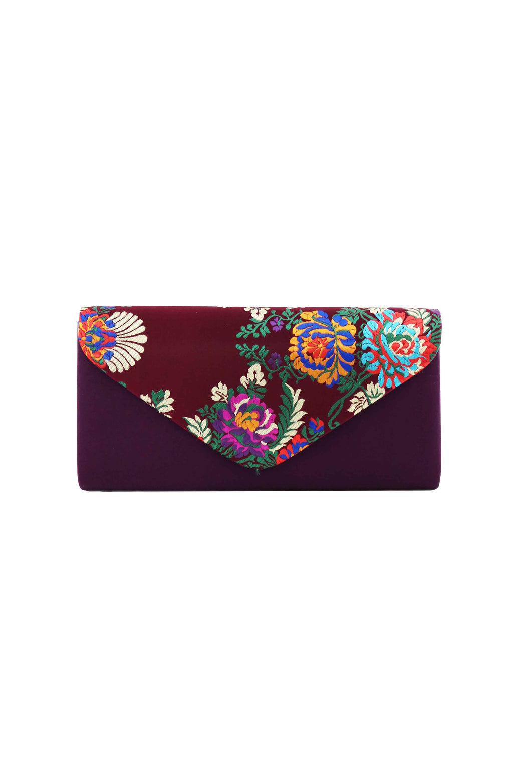 SCARLET PURPLE CLUTCH BAG