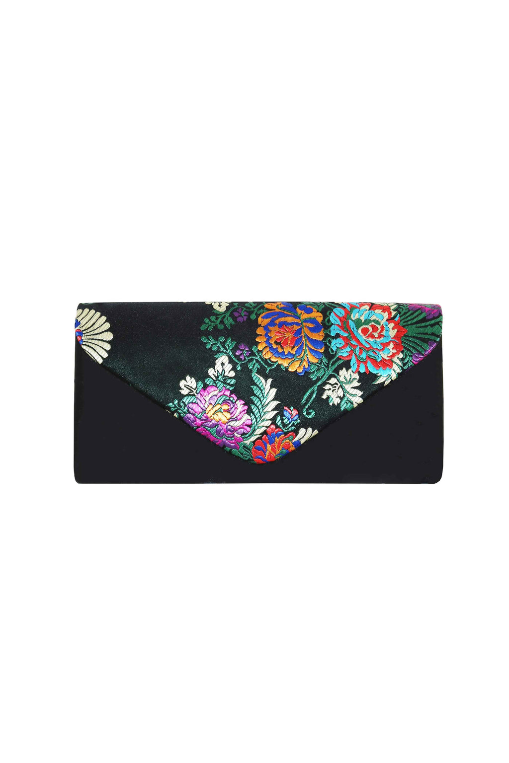 SCARLET BLACK CLUTCH BAG