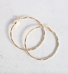 CHLOE GOLD HOOP EARRINGS