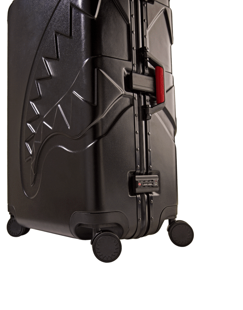 "Embossed Black 29"" Shark Luggage"