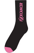 F*ck Cancer Socks - Black/Pink
