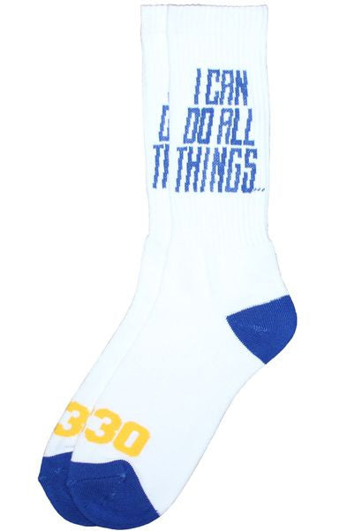 I Can Do All Things Socks - White
