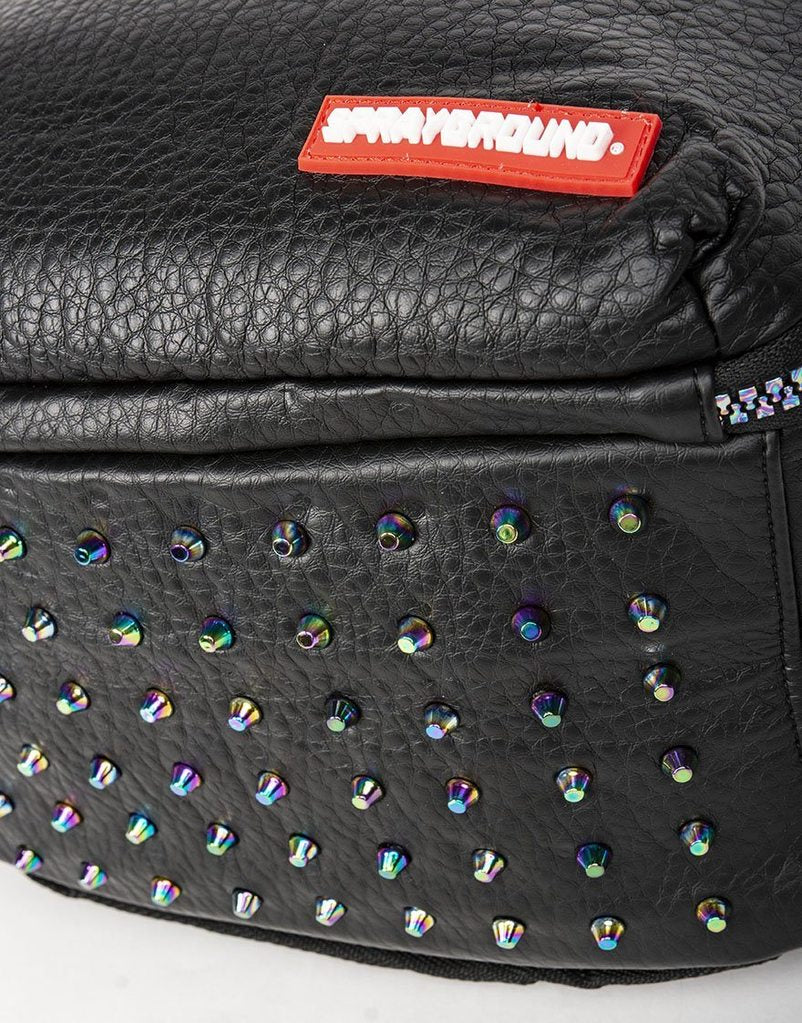 Black Leather Sneaker Iridescent Bag