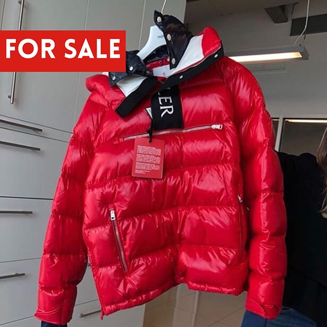 Details about KITH X MONCLER ROCHEBRUNE CLASSIC DOWN JACKET RED WHITE NAVY Size Large