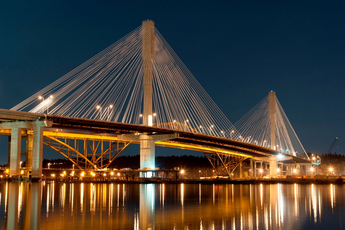 Port Mann Bridge on the Frazer River, Vancouver BC, Canada
