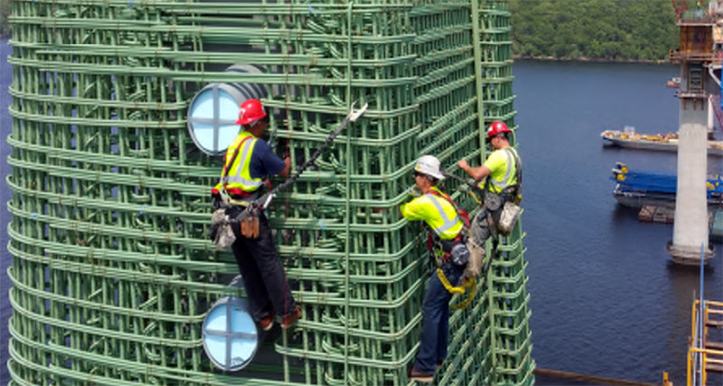 bar fabrication in the St. Croix Bridge