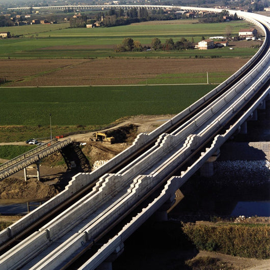 Modena Viaduct for Milan-Naples High-Speed Railway in Italy