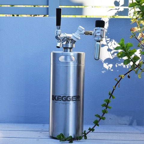 keg tap, chrome plated brass on an ikegger mini keg system
