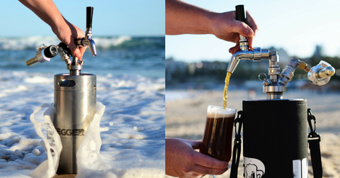 tap king replacement kegs pouring vertically