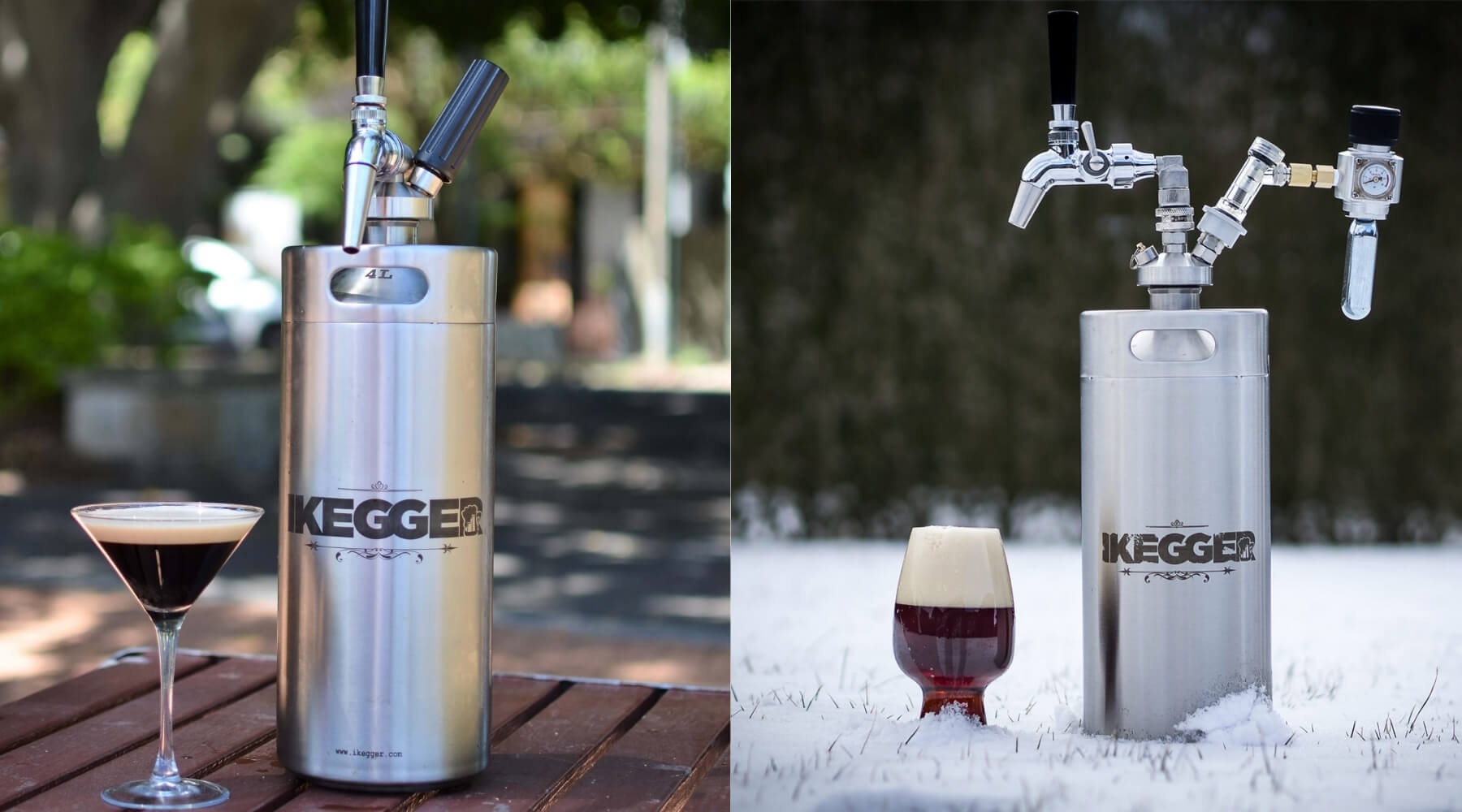 beer keg and cold brew coffee keg