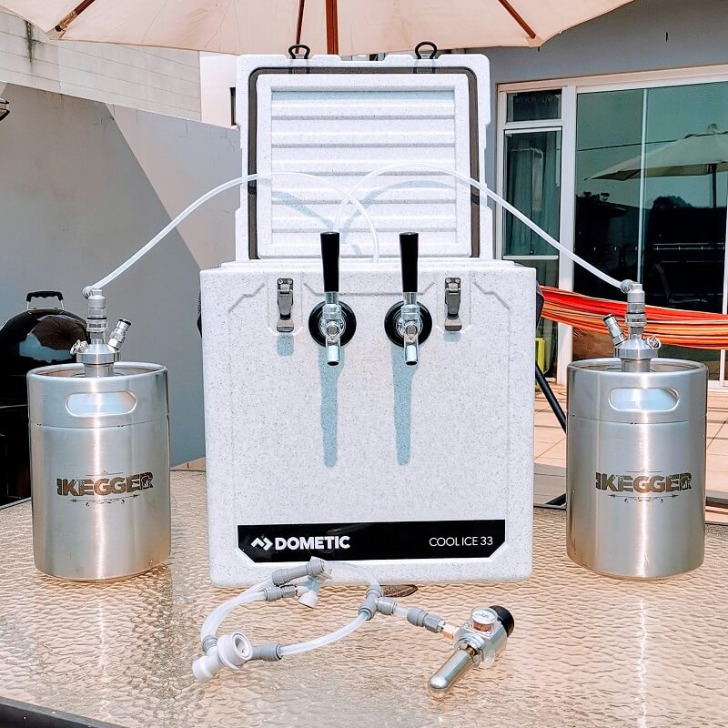 Jockey Box | 2x5L Kegs | Chrome Taps