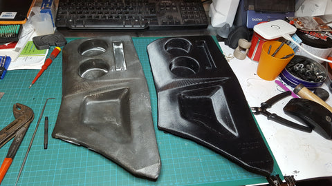 Original (left) and printed (right) parts of an old Mazda.