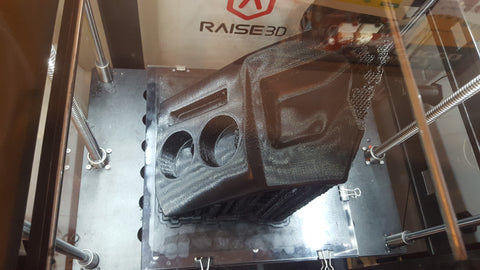 Dash tray for old Mazda being printed on a Raise3D N2 Plus