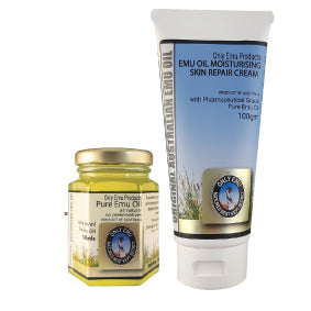 Save over 10% Only Emu Moisturising Skin Repair Cream 100ml with 50ml Pure Emu Oil
