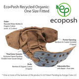 Kanga Care EcoPosh Recycled Organic Cloth Diaper