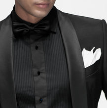 Load image into Gallery viewer, Harvest Male Black Bow Tie - Men's Pre-tied Adjustable Length Formal Tuxedo Satin Solid Color
