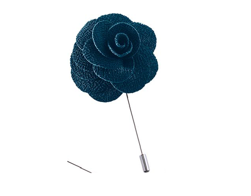 Harvest Male Handmade Fabric Flower Lapel Pin