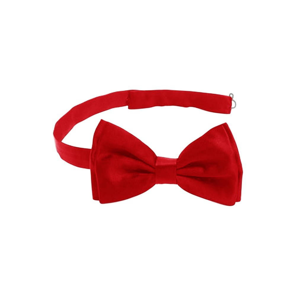 Men's Accessories - Satin Formal Tuxedo Bow Tie - Pre-tied Red