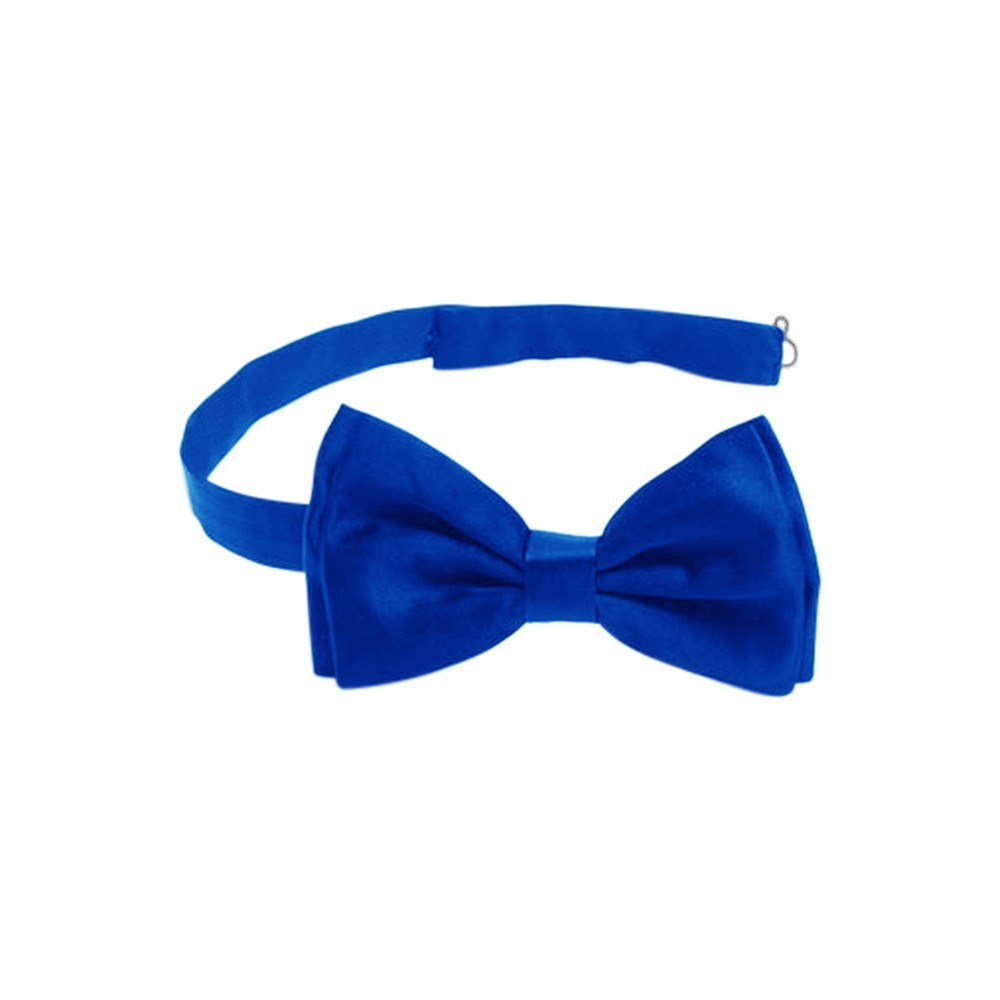 Men's Accessories - Satin Formal Tuxedo Bow Tie - Pre-tied Royal Blue
