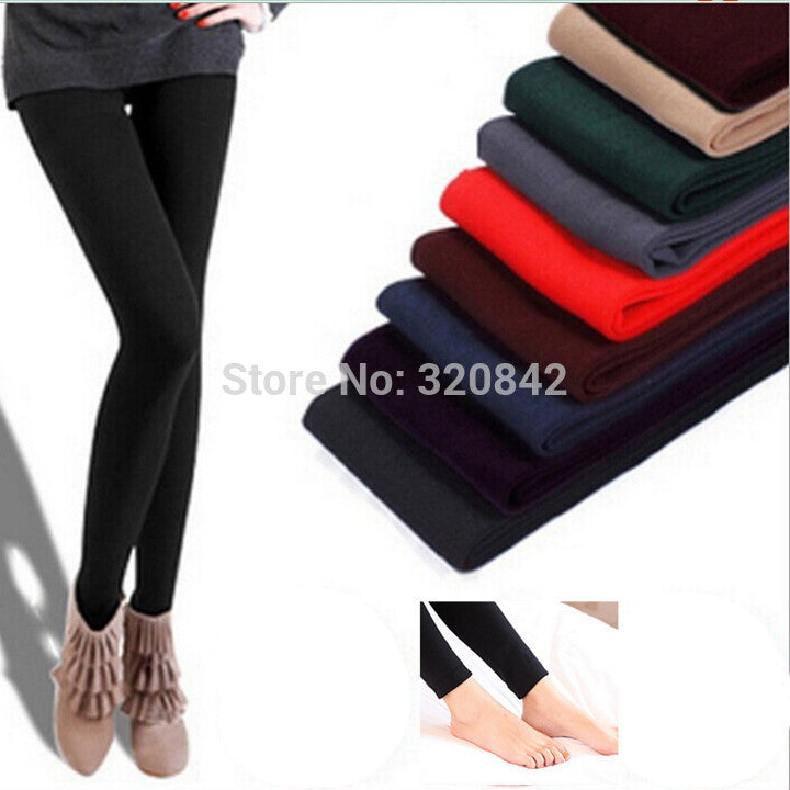 WARM WINTER SKINNY STRETCH FLEECE LEGGINGS