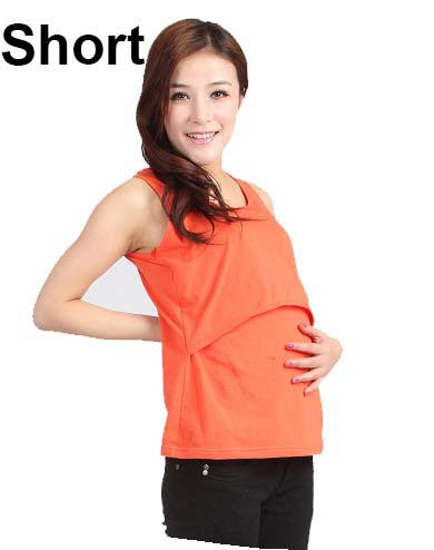 Super Cute Maternity Breast Feeding / Nursing Tank Cotton T Shirt