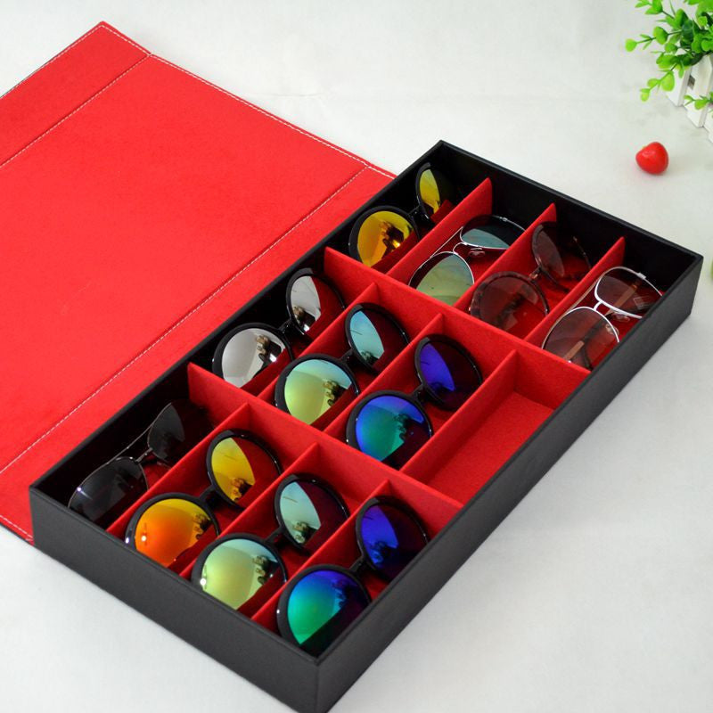 Eye Glass Organizer / Storage / Display Case For 12 Pairs of  Glasses