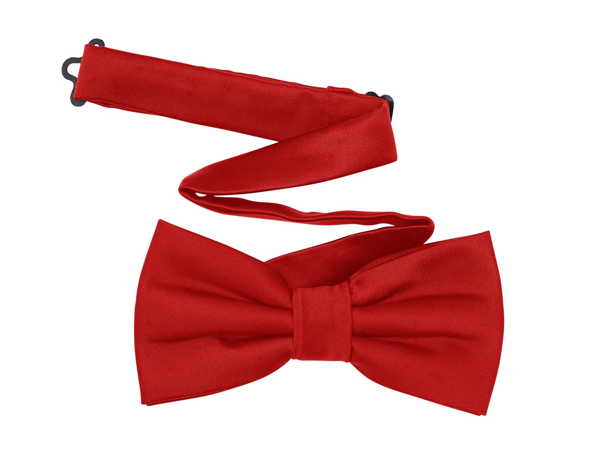 Harvest Male Red Bow Tie - Solid Color Satin Pre Tied Bow Tie for Men. One Size. Adjustable to 23 inches.