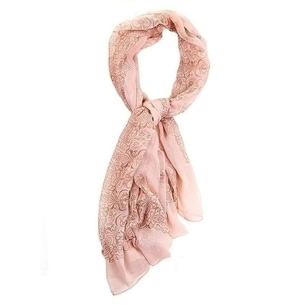 Print Porcelain Style Thin Women's Shawl Scarf