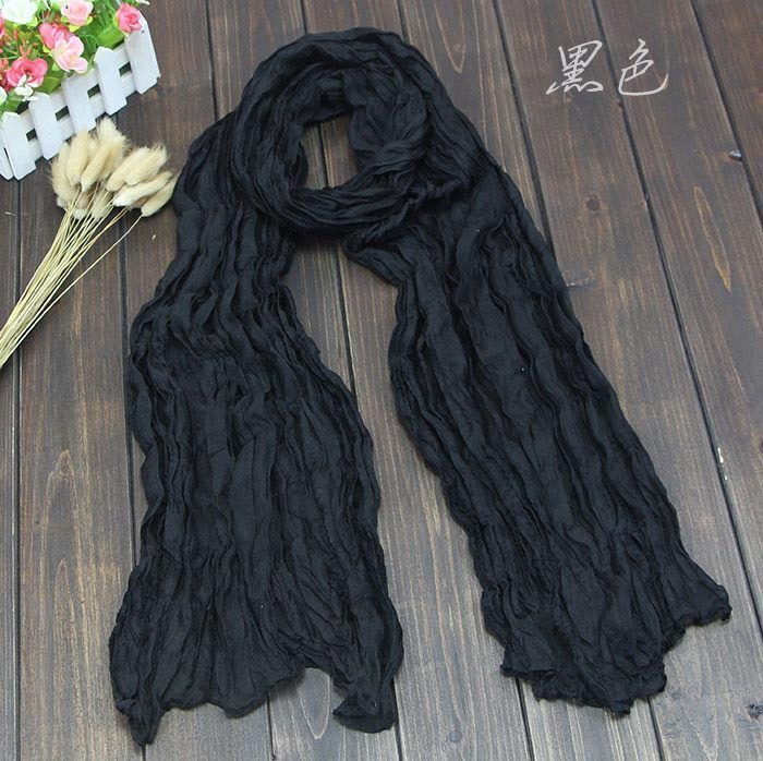 Scarves - Solid Candy Color Women's Cotton Scarf