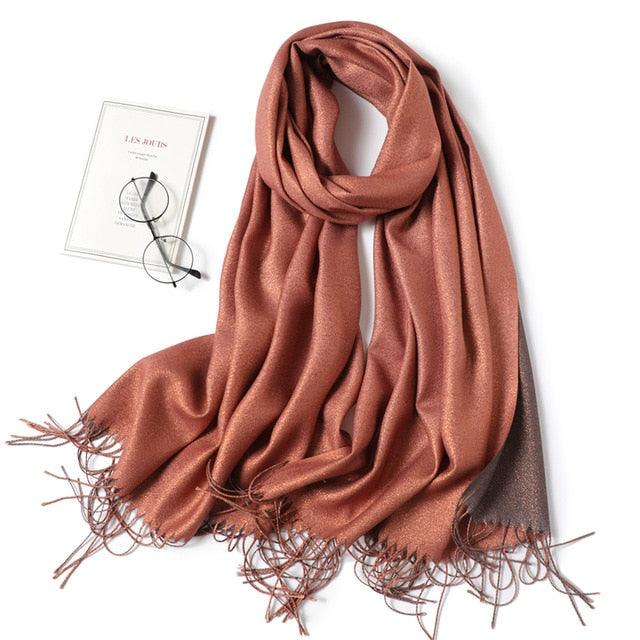 Cashmere-like Scarf Hijab Winter Shawl Wrap Scarf