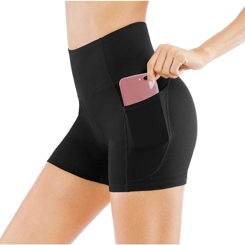 Fit High Waist Athletic Yoga Shorts