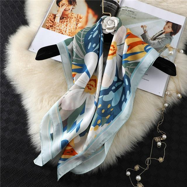 Silk Neck Square Hair Scarf