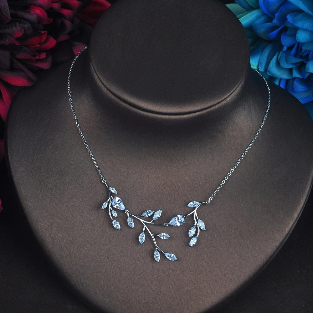 Elegant Leaf Shape Bridal Jewelry Sets