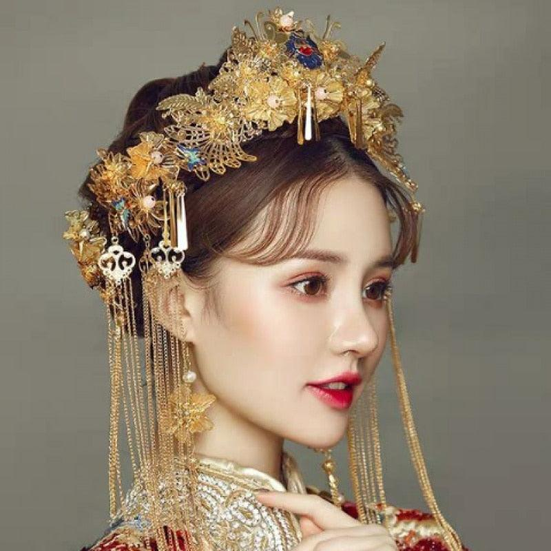 Wedding Hairstyles Chinese: Traditional Hair Sticks Chinese Bridal Hairpins Headpiece