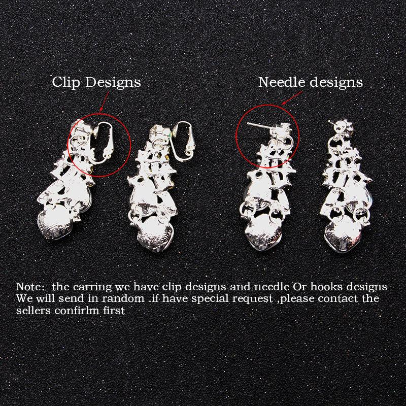 Gorgeous European Rhinestones Crystal Bridal Tiara Necklace Jewelry sets