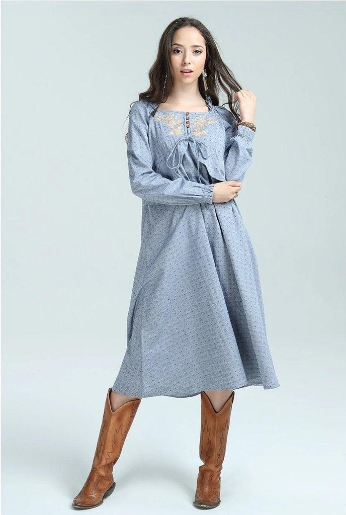 New Cotton Linen Country Dress
