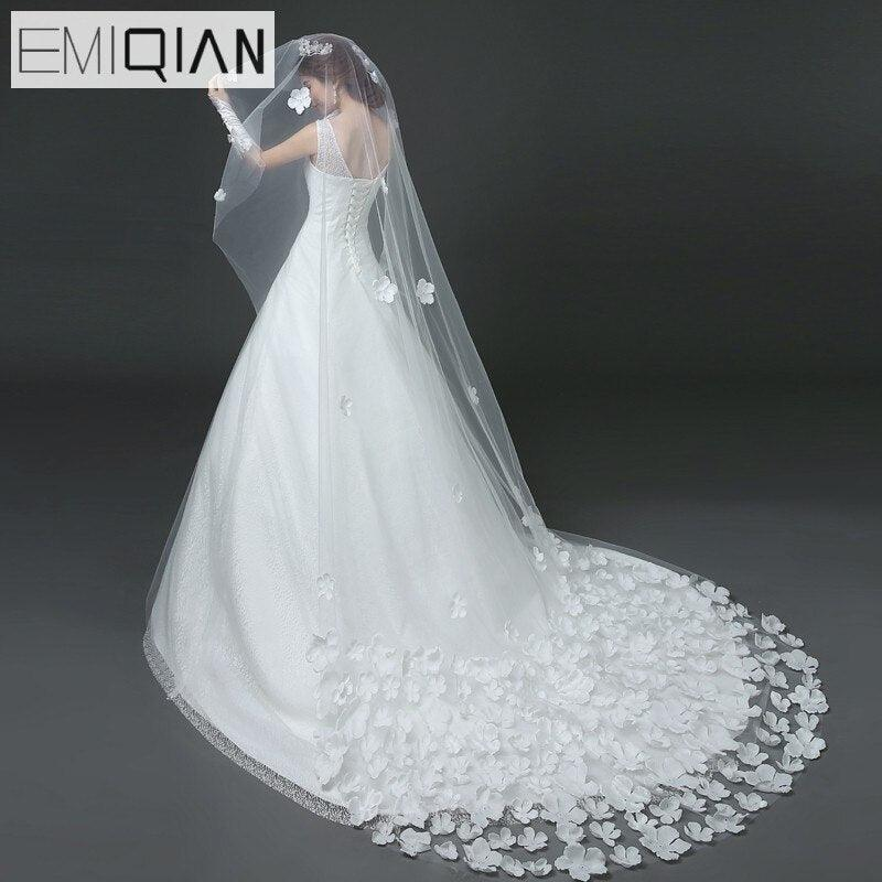 3 Meters Long Bridal Veil Cathedral Wedding Veil
