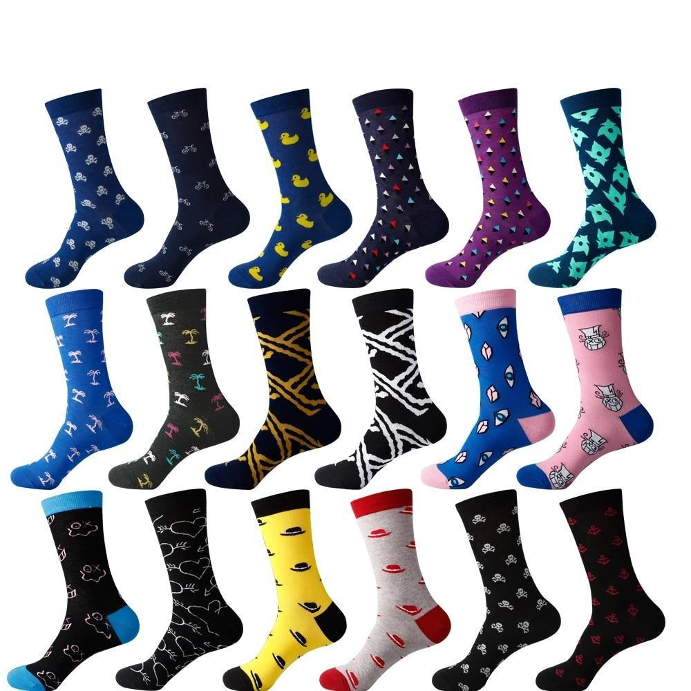 Cartoon Men's colorful Business Cotton Novelty Socks