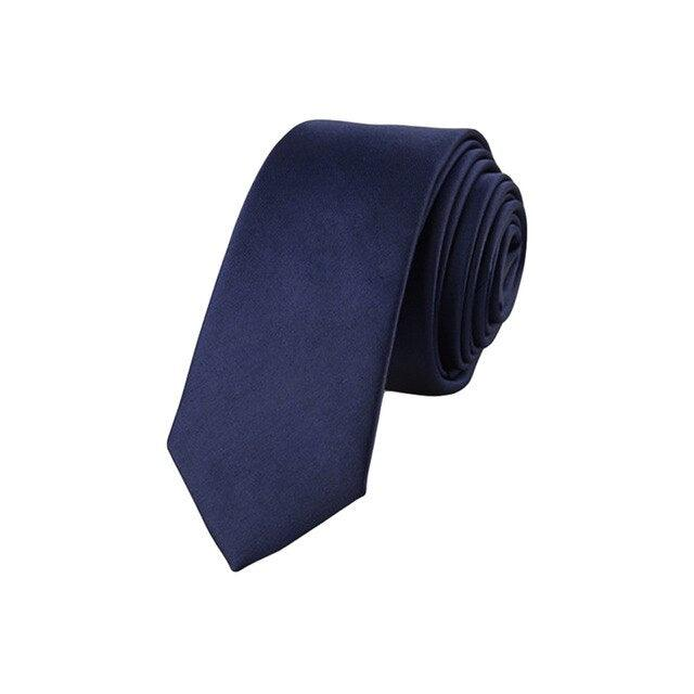 Men Classic Jacquard Woven Solid Skinny Necktie
