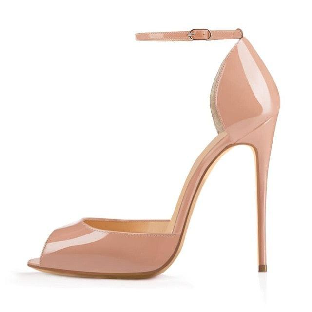 Peep Toe Thin High Heels Ankle Strap Sandals