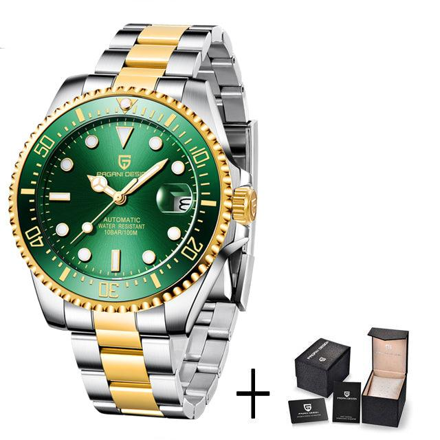 Stainless Steel Waterproof Business Sport Wristwatch