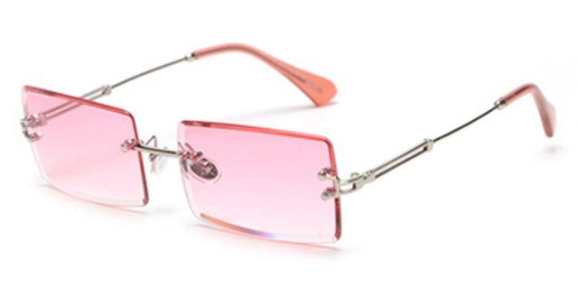 Rimless Rectangle Sunglasses