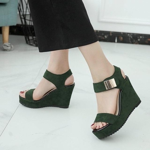 High Heel Party Shoes Platform Office Lady Sandals
